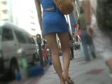 街撮り いい女のスカート尻