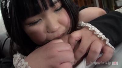 デブぽちゃ顔カワイイゆず3 ぞうさんパンツのチンコ嗅ぎまくり!ニオイフェチメイド編...thumbnai2