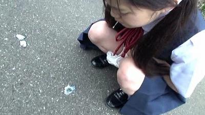 悪戯茶巾少女 りさちゃん スカートめくりでオマンマンいじめ...thumbnai6